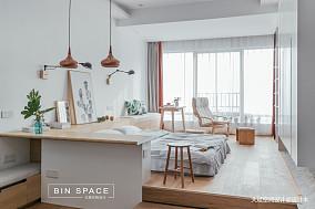 轻奢36平简约小户型卧室设计图一居现代简约家装装修案例效果图