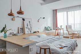 精美27平简约小户型卧室效果图一居现代简约家装装修案例效果图