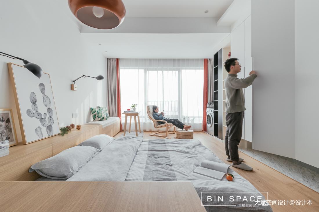 精美40平简约小户型卧室图片欣赏一居现代简约家装装修案例效果图