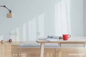 明亮37平简约小户型书房装饰图一居现代简约家装装修案例效果图