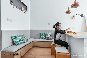 轻奢35平简约小户型客厅设计美图一居现代简约家装装修案例效果图