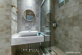 优美30平简约小户型卫生间装修案例一居现代简约家装装修案例效果图