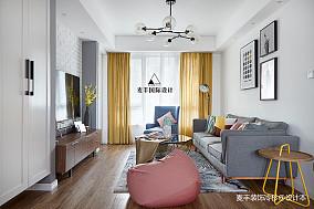 轻奢89平北欧三居客厅设计美图