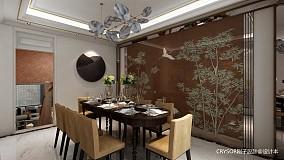 2018面积139平复式餐厅中式装修效果图片