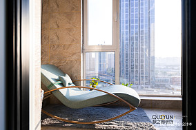明亮63平北欧二居阳台设计图阳台北欧极简设计图片赏析