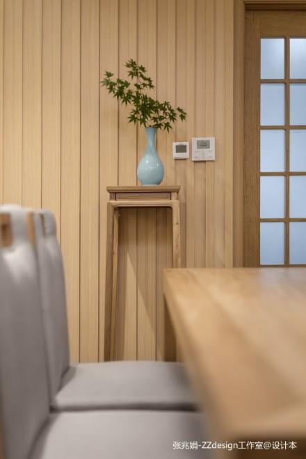 轻奢90平中式四居餐厅装修效果图