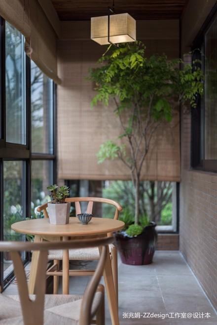 大气156平中式四居阳台装潢图阳台