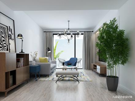 质朴70平北欧三居客厅装修效果图