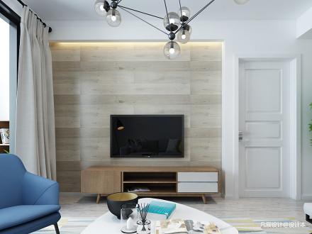 2018精选97平方三居客厅北欧装修实景图片大全三居北欧极简家装装修案例效果图