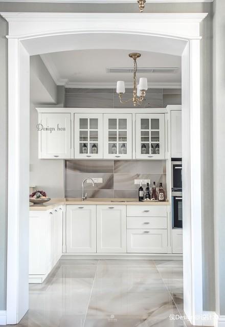 温馨844平美式别墅厨房设计图餐厅