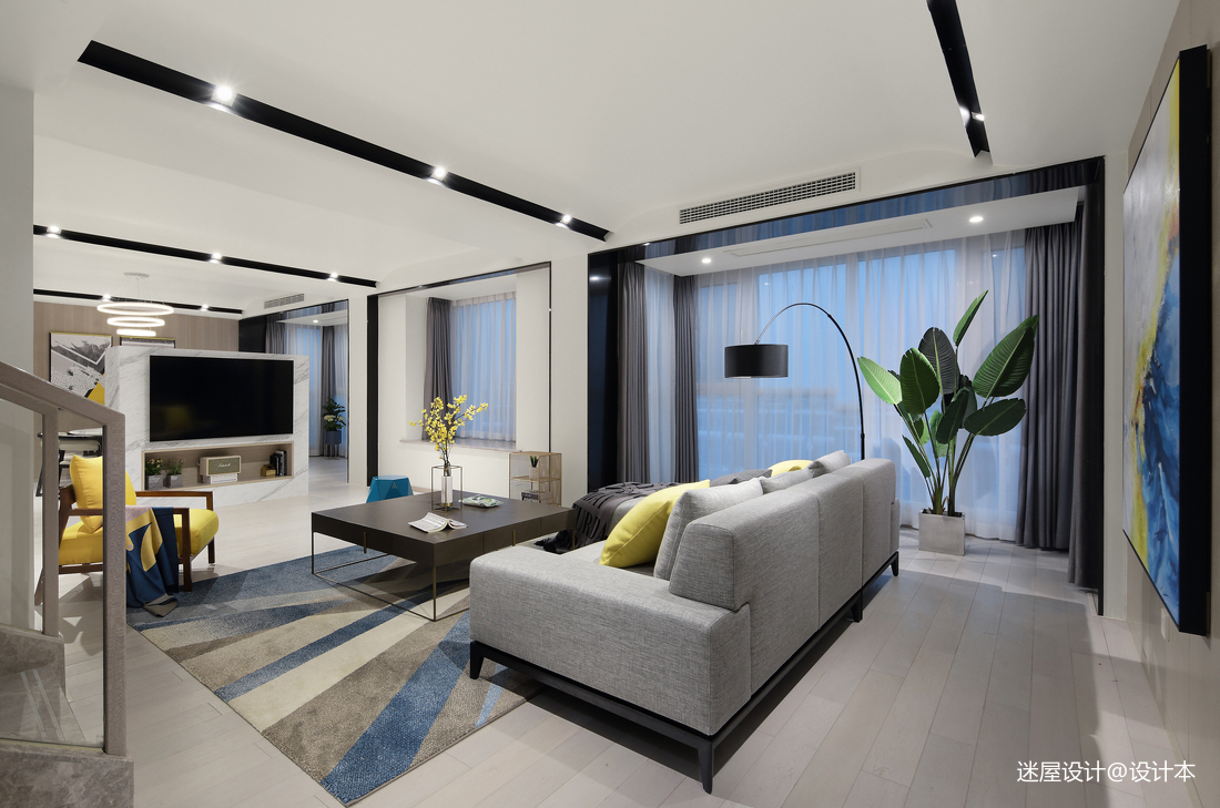 质朴42平简约复式客厅装饰美图客厅