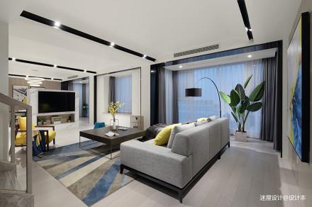 质朴42平简约复式客厅装饰美图