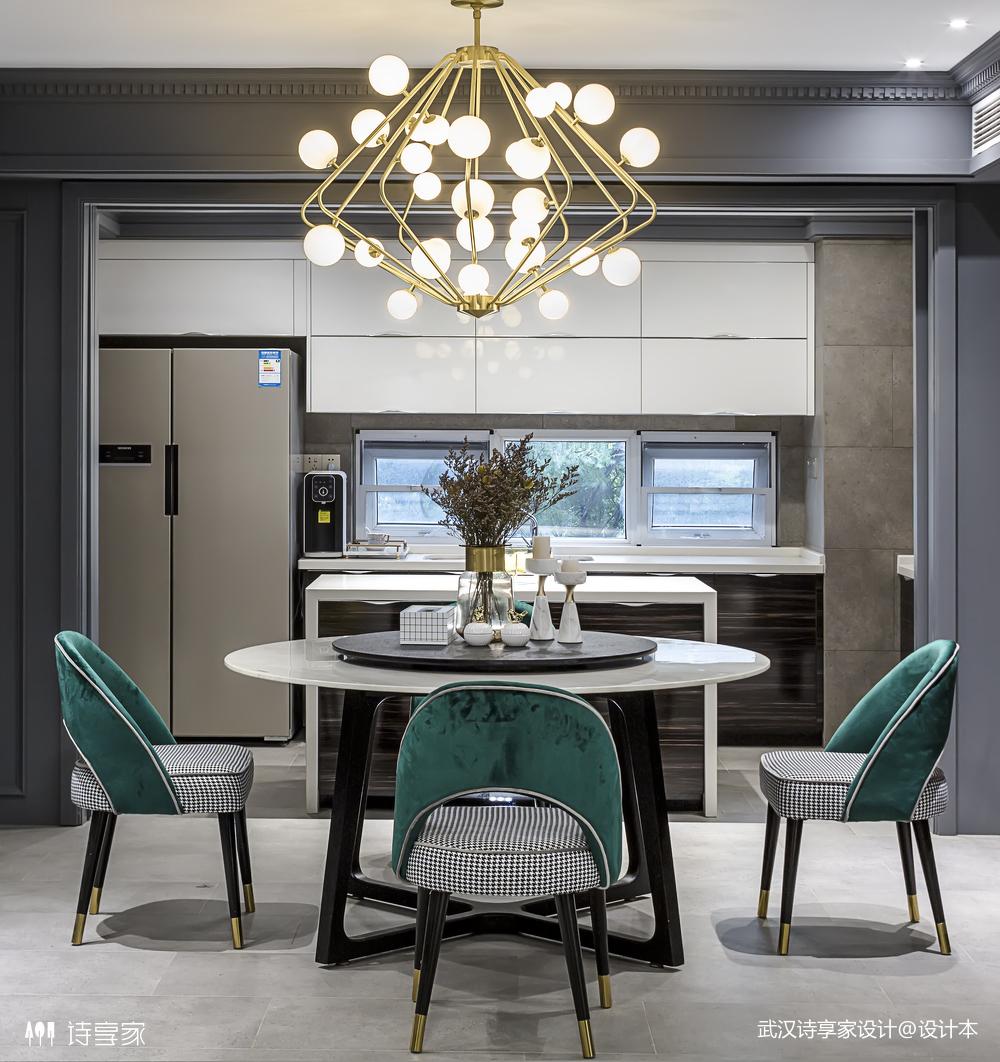 【诗享家出品】这个家把高级灰演绎得如此惊艳厨房现代简约餐厅设计图片赏析