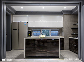 高级灰现代厨房设计图