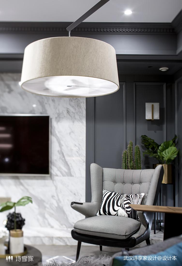 【诗享家出品】这个家把高级灰演绎得如此惊艳客厅4图现代简约客厅设计图片赏析