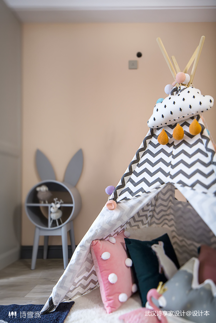 【诗享家出品】这个家把高级灰演绎得如此惊艳卧室3图现代简约卧室设计图片赏析