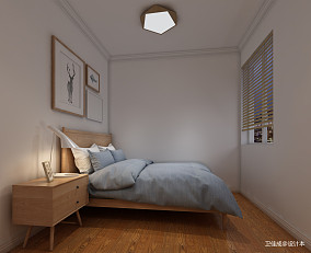 质朴86平北欧三居卧室装饰美图