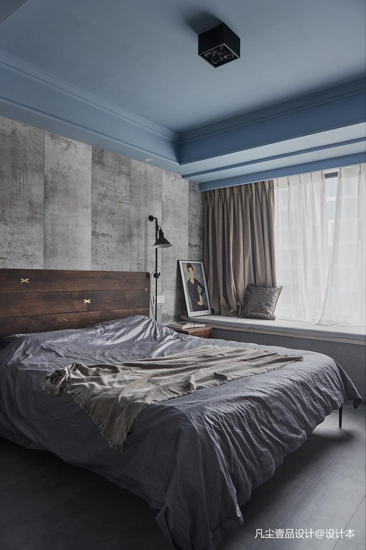 简约卧室飘窗设计图卧室床现代简约卧室设计图片赏析
