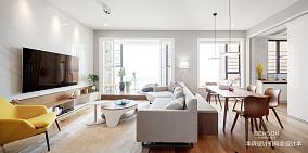 华丽160平现代复式客厅装潢图