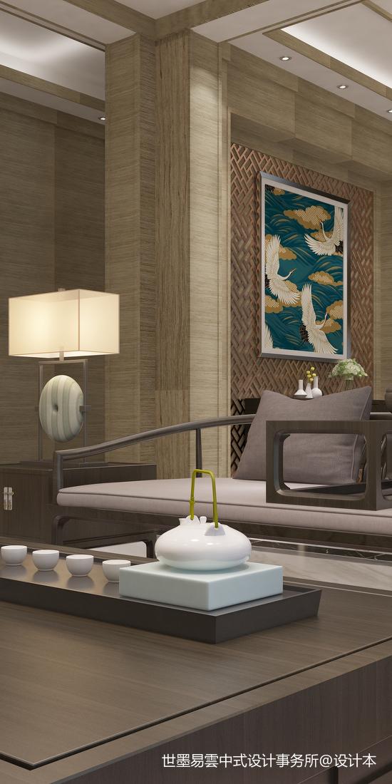 精美57平中式复式客厅装修设计图客厅中式现代客厅设计图片赏析