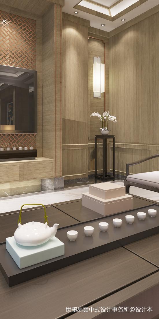 温馨60平中式复式客厅图片欣赏客厅中式现代客厅设计图片赏析