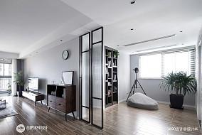 典雅88平现代三居休闲区装饰图片功能区现代简约设计图片赏析