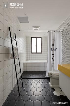 温馨91平北欧三居卫生间效果图欣赏三居北欧极简家装装修案例效果图