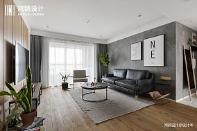 优雅122平北欧三居客厅设计美图三居北欧极简家装装修案例效果图