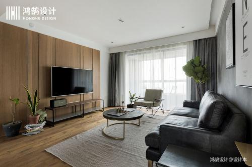 质朴112平北欧三居客厅装修图客厅窗帘