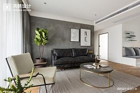 优美81平北欧三居客厅实景图三居北欧极简家装装修案例效果图