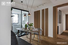 简洁107平北欧三居餐厅装潢图三居北欧极简家装装修案例效果图