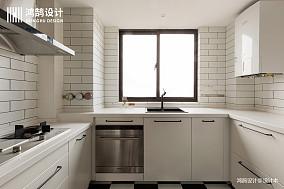 浪漫71平北欧三居厨房效果图欣赏三居北欧极简家装装修案例效果图