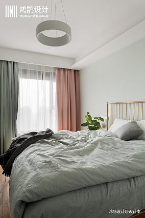 大气84平北欧三居卧室设计案例三居北欧极简家装装修案例效果图
