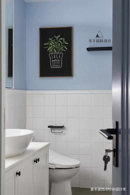 优雅111平北欧三居卫生间效果图欣赏卫生间