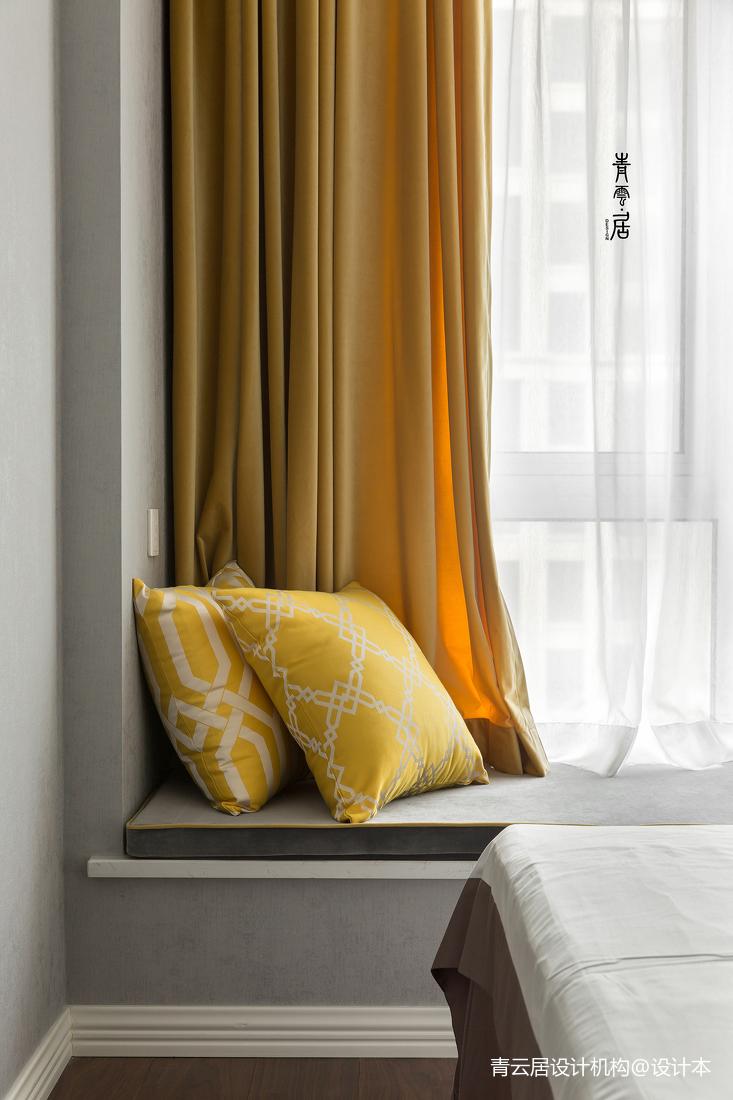 精致现代卧室飘窗设计图卧室现代简约卧室设计图片赏析