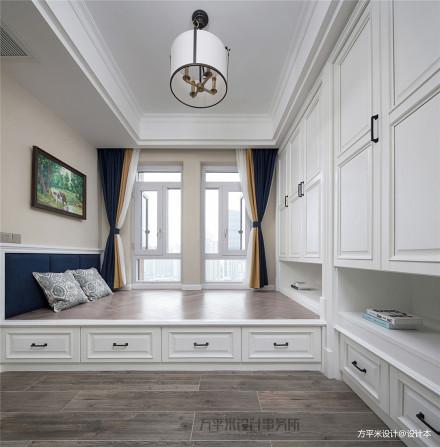 轻奢93平美式四居休闲区设计效果图功能区