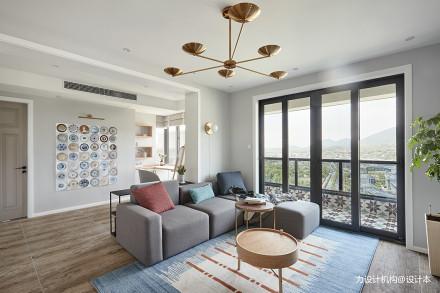 典雅200平北欧复式客厅图片大全复式北欧极简家装装修案例效果图