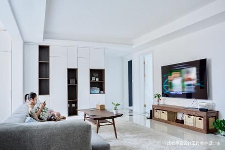 北欧风格客厅设计图片四居及以上北欧极简家装装修案例效果图