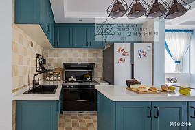 2018精选混搭复式厨房装修设计效果图餐厅潮流混搭设计图片赏析