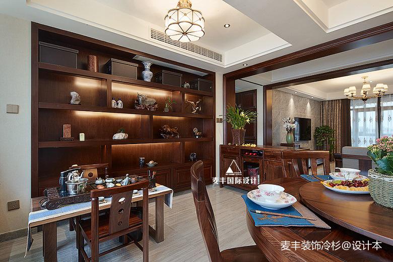 悠雅141平中式三居餐厅装饰图中式现代设计图片赏析