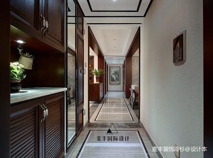 优美77平中式三居玄关装修设计图
