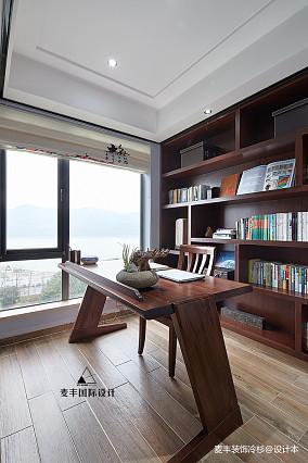 简洁77平中式三居书房装修装饰图