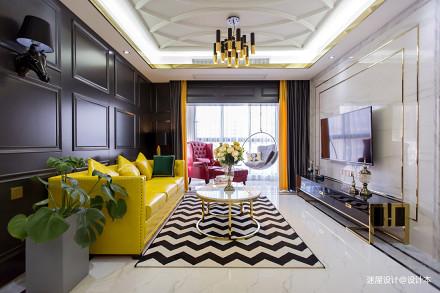一个人住102㎡,改动一扇门,变大衣帽间,客厅配色美的像王妃_3294368