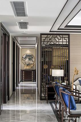 新中式loft公馆过道设计图