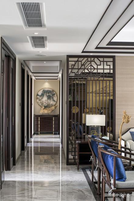 新中式loft公馆过道设计图功能区