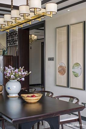 精选面积120平别墅餐厅中式装修设计效果图片大全
