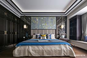 热门面积128平别墅卧室中式装修实景图片大全