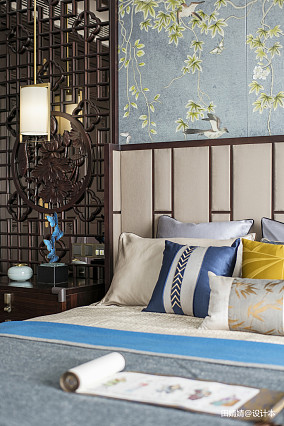 精选面积135平别墅卧室中式装修实景图片欣赏