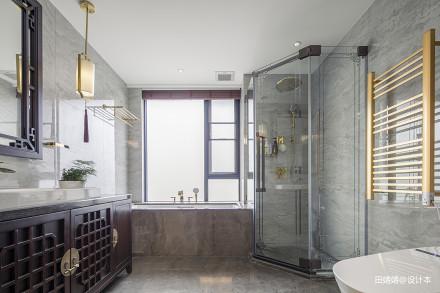 新中式loft公馆主卧卫浴设计图卫生间