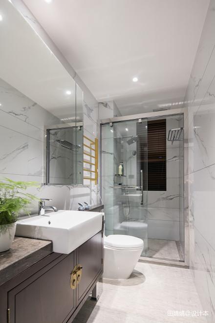 新中式loft公馆卫浴设计图片卫生间